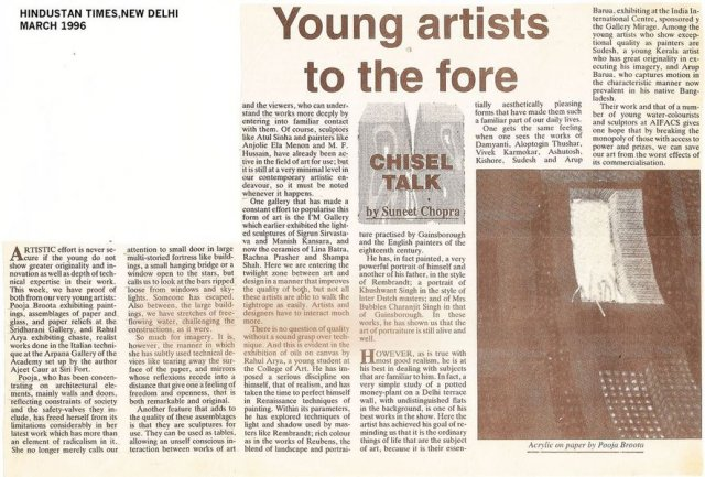 young artists to the fore
